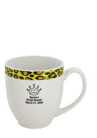 15 oz Unique glossy bistro coffee mugs - Kenya Leopard15 oz Unique glossy bistro coffee mugs - Kenya Leopard