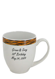 15 oz glossy custom bistro coffee mugs - Kenya Tiger15 oz glossy custom bistro coffee mugs - Kenya Tiger