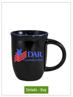 14 oz Salem Gloss Black Custom Mug with Ocean Blue Halo Accent14 oz Salem Gloss Black Custom Mug with Ocean Blue Halo Accent