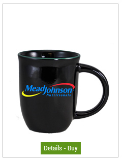 14 oz Salem Gloss Black Custom Mug with Green Halo Accent14 oz Salem Gloss Black Custom Mug with Green Halo Accent