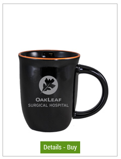 14 oz Salem Gloss Black Custom Mug with Orange Halo Accent14 oz Salem Gloss Black Custom Mug with Orange Halo Accent