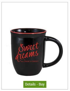 14 oz Salem Gloss Black Custom Mug with Red Halo Accent14 oz Salem Gloss Black Custom Mug with Red Halo Accent