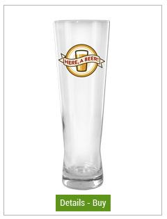 printed beer pilsner glasses