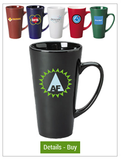 16 oz Glossy Funnel Latte Mugs