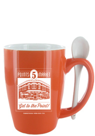 16 oz. Orange Ursa Endeavour Spoon Mug16 oz. Orange Ursa Endeavour Spoon Mug