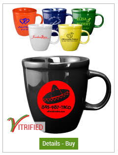 17 oz. Vitrified Mocha Cancun Mugs