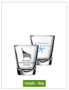 Customized 2 oz shot glass - clearCustomized 2 oz shot glass - clear