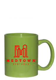 11 oz personalized coffee mug - vibrant lime green11 oz personalized coffee mug - vibrant lime green