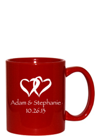11 oz personalized coffee mug - vibrant red11 oz personalized coffee mug - vibrant red