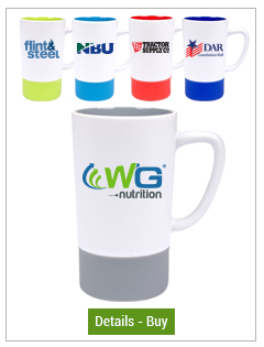 16 oz Combo Mug, White silk exterior w/Silicone Sleeve matching colored interior