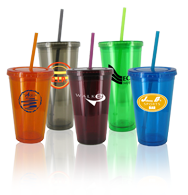 Jouney Travel Mugs Double wall BPA free Acrylic with straw