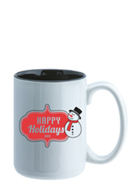 15 oz El Grande Two Tone ceramic mug - black interior15 oz El Grande Two Tone ceramic mug - black interior