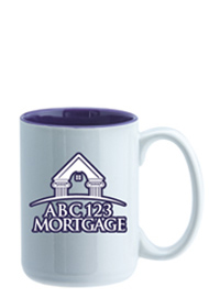 15 oz El Grande Two Tone ceramic mug - purple interior15 oz El Grande Two Tone ceramic mug - purple interior