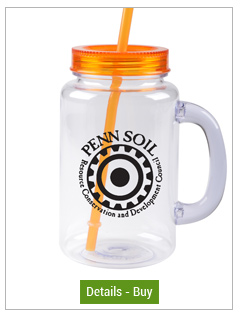 Promotional Mason Jars Orange 20oz w/ Lid & Straw FREE SHIPPromotional Mason Jars Orange 20oz w/ Lid & Straw FREE SHIP