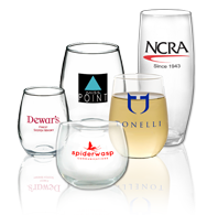 Promotional Stemless Wine Glasses Printed with Logo