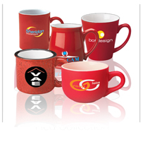 RED Collection - Ceramic Coffee Mugs