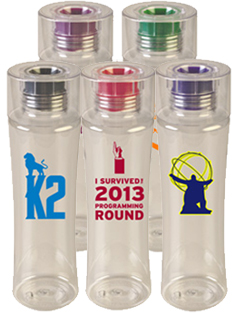 24 Oz Reef Tritan Sports Bottle with Colored Silicone Spout