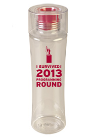 24 oz Reef Red Custom sports bottle  - BPA Free24 oz Reef Red Custom sports bottle  - BPA Free