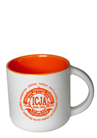 14 oz Sedona Mug - Matte White Out/Gloss Orange In14 oz Sedona Mug - Matte White Out/Gloss Orange In