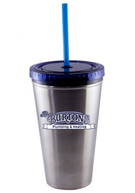 16 oz Blue Promotional Stainless Steel Journey travel cup16 oz Blue Promotional Stainless Steel Journey travel cup
