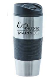 15 oz Ventura Stainless Steel Travel mug - Black15 oz Ventura Stainless Steel Travel mug - Black