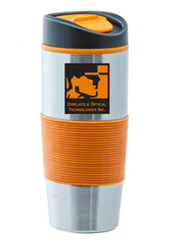 15 oz Ventura Stainless Steel Travel mug - Orange15 oz Ventura Stainless Steel Travel mug - Orange