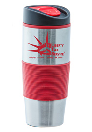 15 oz Ventura Stainless Steel Travel mug - Red15 oz Ventura Stainless Steel Travel mug - Red