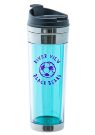 16 oz Vulcano blue custom double wall travel mug16 oz Vulcano blue custom double wall travel mug