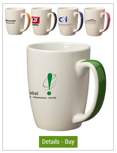 11 oz Accent Color Handle Mugs