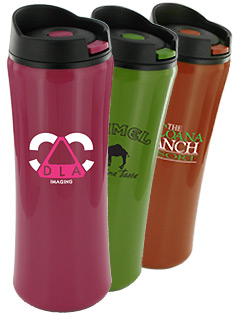 14 oz Clicker Travel Coffee Mugs - BPA Free