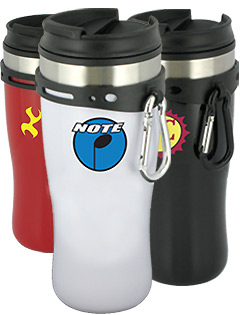 16 oz Edge Travel Mug with Carabiner Clip - BPA Free