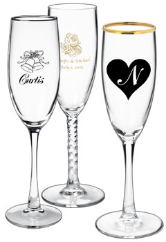 custom wedding glassware wine glass wedding favors