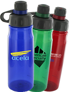 28 oz Oasis Poly Sports Bottles - BPA Free