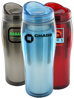 14 oz Optima Chrome Travel Mugs - BPA Free