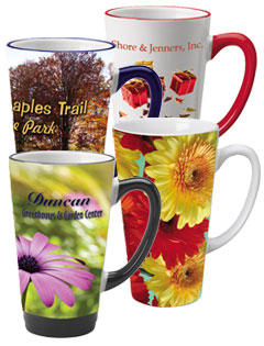 Topeka Latte Gloss Mugs - 16oz