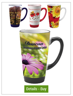 Topeka Latte Gloss Picture Mugs - 16oz