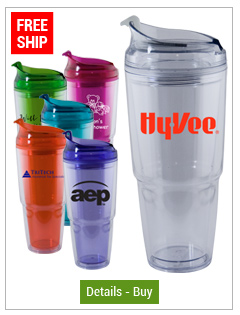 22 oz Dual Custom Acrylic Travel Tumbler