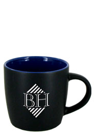 12 oz Effect Two Tone Matte Finish Black Out/Ocean Blue In Mug12 oz Effect Two Tone Matte Finish Black Out/Ocean Blue In Mug