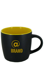 12 oz Effect Two Tone Matte Finish Black Out/Yellow In Mug12 oz Effect Two Tone Matte Finish Black Out/Yellow In Mug