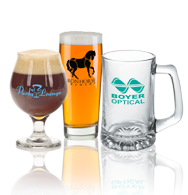 Imprinted Beer, Mugs, Pilsner's, Tasterbeer glasses, Pint glasses