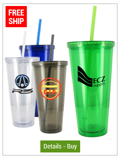 24 oz Grand Journey Custom Acrylic Tumblers with straw