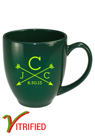 15 oz glossy vitrified bistro coffee mugs - Hunter Green15 oz glossy vitrified bistro coffee mugs - Hunter Green