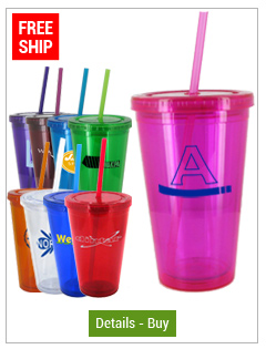 16 oz Journey Custom Acrylic Tumblers Travel Cup with Straw - BPA Free