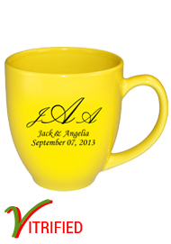 15 oz glossy vitrified bistro coffee mugs - Lemon Yellow15 oz glossy vitrified bistro coffee mugs - Lemon Yellow