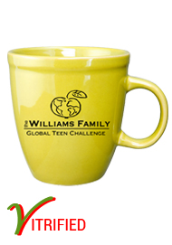 17 oz glossy vitrified mocha coffee mugs - Lemon Yellow17 oz glossy vitrified mocha coffee mugs - Lemon Yellow