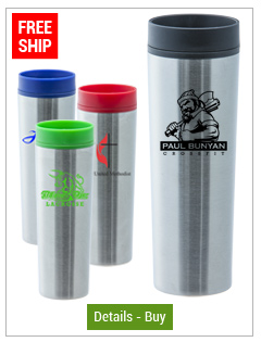 16 oz Monterey Stainless Steel Travel Tumbler with twist closure lid