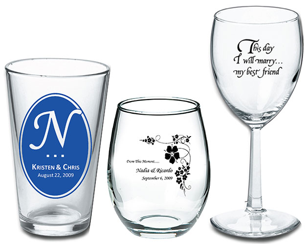 Personalized Wedding Glasses - A Touch of Class