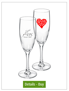 5.75 oz nuance personalized champagne glass