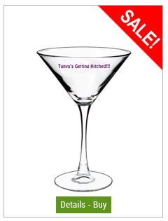 7.25 oz printed martini glass7.25 oz printed martini glass