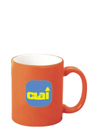 11 oz c-handle mug - orange out